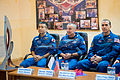 Soyuz TMA-11M final press conference prime crew.jpg
