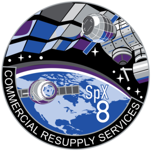 SpaceX CRS-8 - Image: Space X CRS 8 Patch