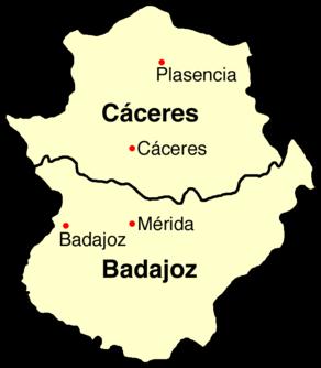mérida espanha mapa Estremadura (Espanha) – Wikipédia, a enciclopédia livre mérida espanha mapa