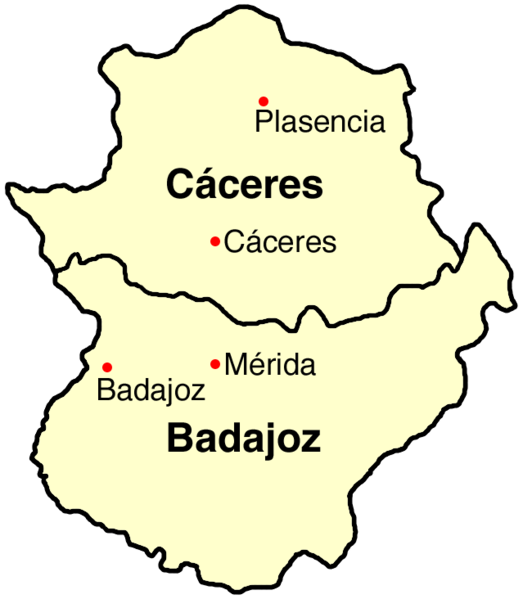 Map Of Spain Extremadura.File Spain Extremadura Map Png Wikimedia Commons