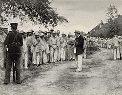 Spanish Navy Prisoners of War at Seavey's Island