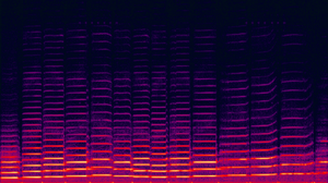 Music and mathematics - A spectrogram of a violin waveform, with linear frequency on the vertical axis and time on the horizontal axis. The bright lines show how the spectral components change over time. The intensity colouring is logarithmic (black is −120 dBFS).