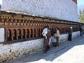 Spinning Prayer wheels Changangha Monestary (2420156653).jpg