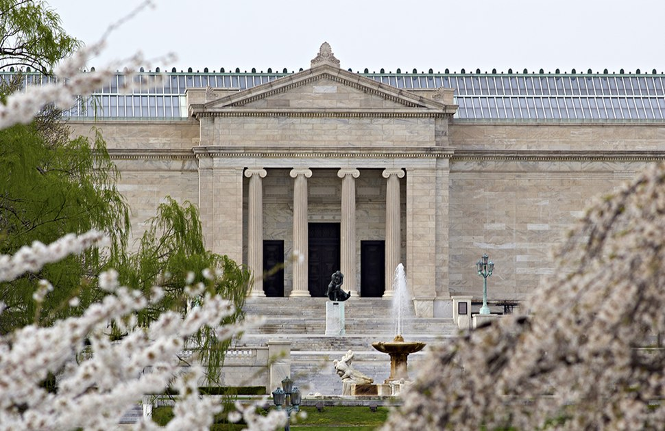 Springtime art museum