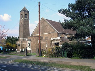 Hinchley Wood - Image: St. Christopher's Church, Hinchley Wood geograph.org.uk 877530