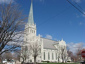 St. John's Catholic Church in Delphos, southern side and front.jpg
