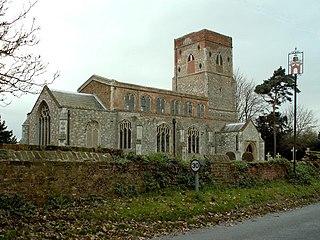 Erwarton village in Suffolk, England