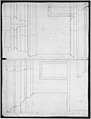 St. Peter's, drum, interior, elevation (recto) St. Peter's, drum, pedestal, section (verso) MET sf49 92 17v-MM31810.jpg