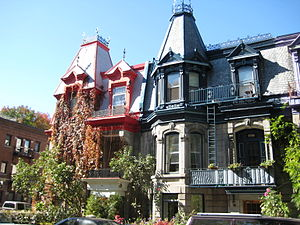 Le Plateau-Mont-Royal - Victorian homes on Saint Louis Square.