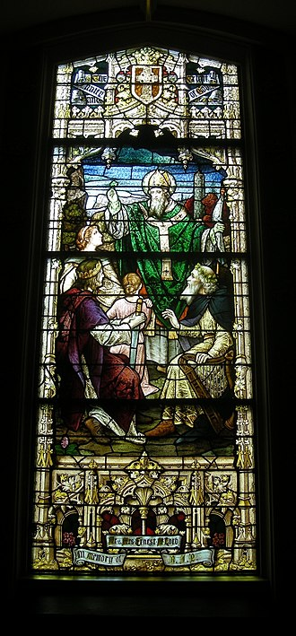 St. Patrick's Church (New Orleans, Louisiana) - Window on the right side of the church, near the front