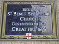 St Benet Sherehog blue plaque.JPG