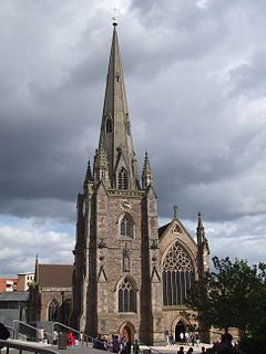 St Martin in the Bull Ring Church in Birmingham, England