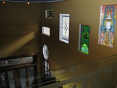 Some of many stained glass windows