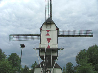 Post mill Rosmalen Windmill in the Netherlands