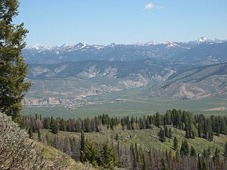 Stanley, Idaho - Image: Stanley from Above 2