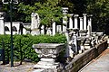 Statues and ancient columns within the Istanbul Archaeology Museums' complex inner yard, Turkey.jpg