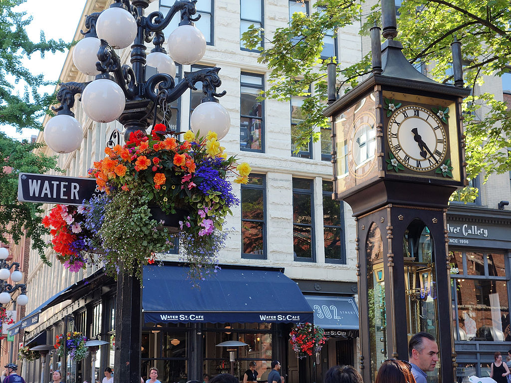 The steam clock in Gastown, Vancouver, Canada