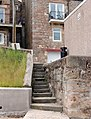 Steps up from the strand beside the harbour, Seahouses - geograph.org.uk - 1379470.jpg