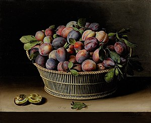 Still Life with Basket of Plums, 1629