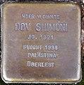 Stolperstein Arnstadt Rosenstraße 10-Dov Shimoni.JPG