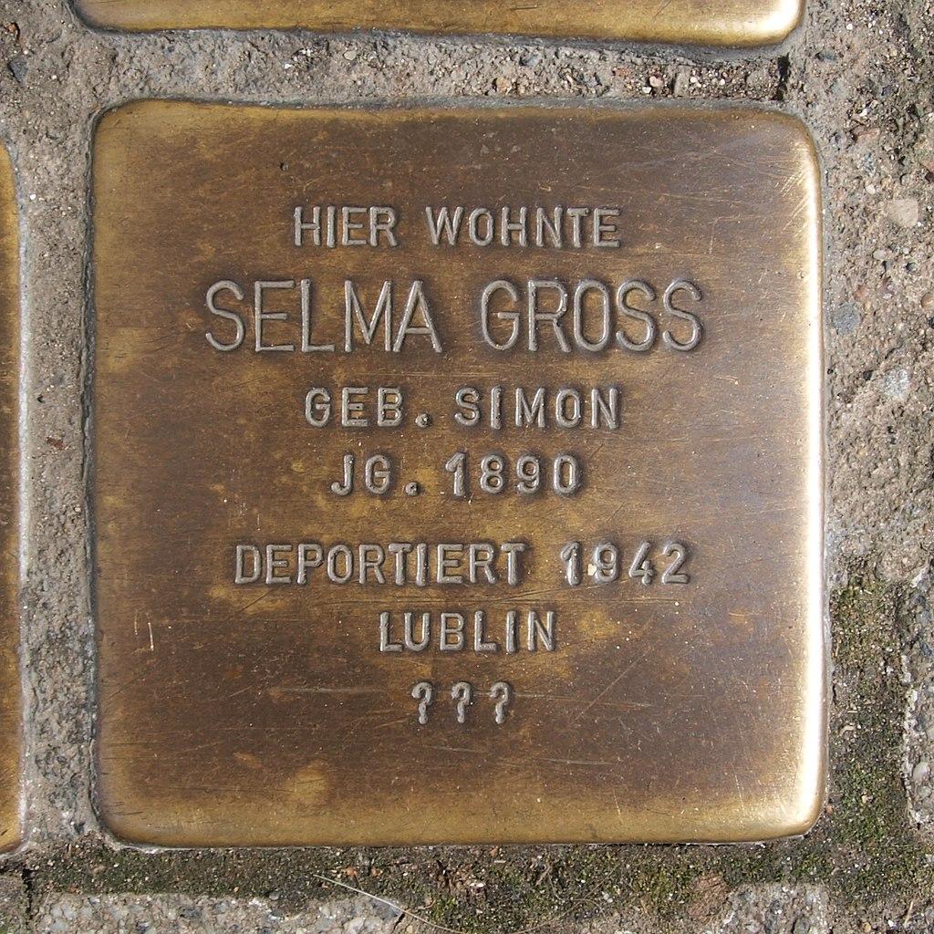 Stolperstein Bingen Gaustraße 11 Selma Gross.jpg