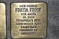 Stolperstein Duisburg 500 Hochfeld Heerstraße 118 Frieda Frost.jpg