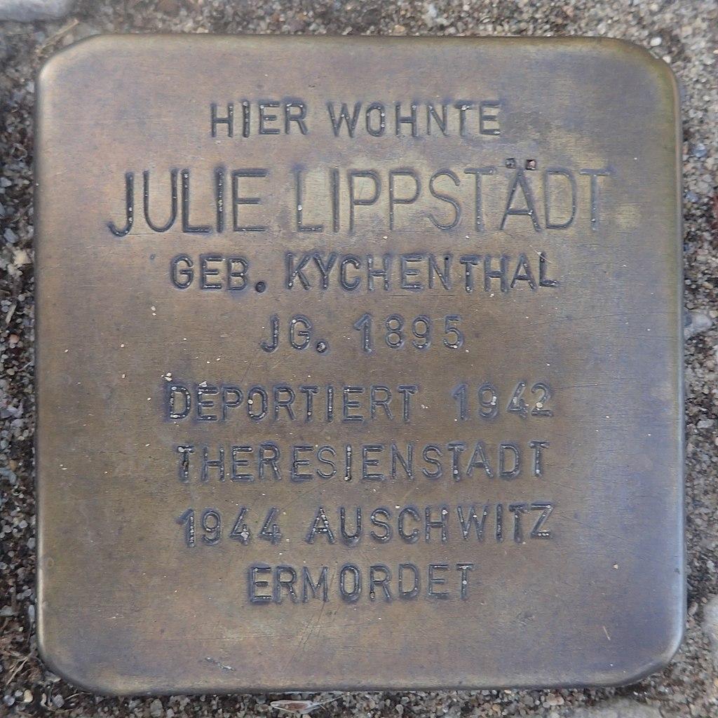 Stolperstein Gardelegen Bahnhofstraße 87 Julie Lippstädt