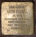 Stolperstein Jagowstr 44 (Moabi) Aron Israel.jpg
