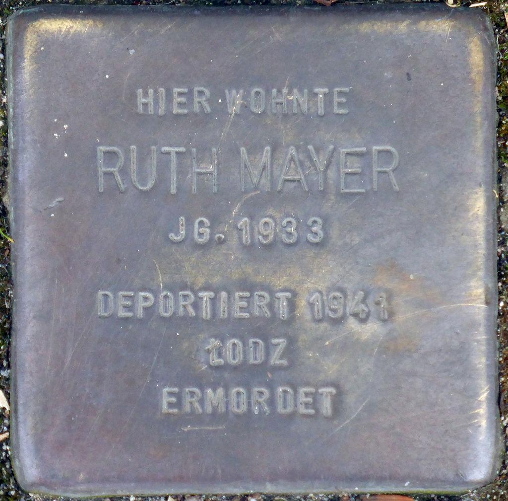 Stolperstein Köln, Ruth Mayer (Marktstraße 6).jpg