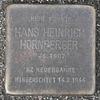 Stolperstein für Hans Heinrich Hornberger