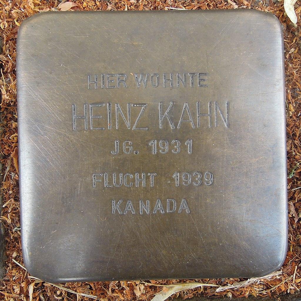 Stolperstein für Heinz Kahn