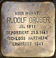 Stolperstein Salzburg, Rudolf Gruber (Brodgasse 1).jpg
