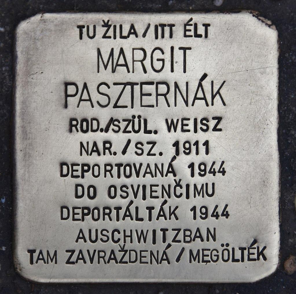 Stolperstein für Margit Paszternak.JPG