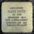 Stumbling block for Hans Marx (Schaurtestrasse 1)