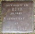 Stolpersteine Köln, Romm, Stein-Nr. 112 (Holzmarkt 1).jpg