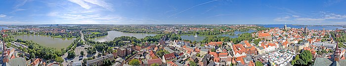 aerial view of Stralsund