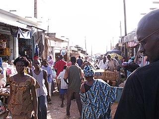 MBour Town in Thiès Region, Senegal