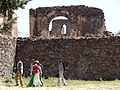 Strollers in Royal Enclosure (Fasil Ghebbi) - Gondar - Ethiopia (8685181455).jpg