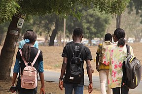 Students of the University of Ilorin Playing. 08.jpg