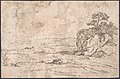 Studies of Female Nude, Hands, and Male Torso (recto); Landscape (verso) MET DP802643.jpg