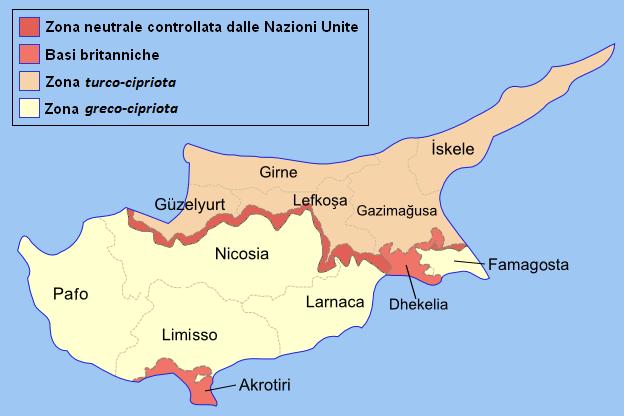 Suddivisione amministrativa di Cipro