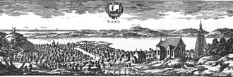 Trosa - Print of Trosa around 1690-1710, from Suecia Antiqua et Hodierna