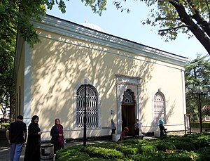 Orhan - The exterior view of his türbe in Bursa.