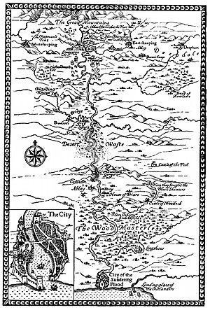 The Sundering Flood - Frontispiece map from the first edition