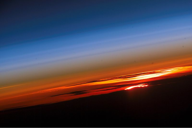 File:Sunset from Internation space station.jpg