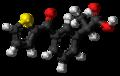 Suprofen molecule ball.png