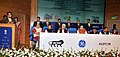 Suresh Prabhakar Prabhu addressing at the Contract Agreement signing ceremony for the (Electric Locomotive Factory at Madhepura and Diesel Locomotive Factory at Marhowra - Bihar), in New Delhi. The Union Ministers.jpg
