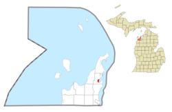 Location within Leelanau County