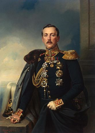 Alexander Arkadyevich Suvorov - Portrait of Alexander Arkadyevich Suvorov, 1851 - oil on canvas by Franz Kruger, 138 x 100 cm, Germany