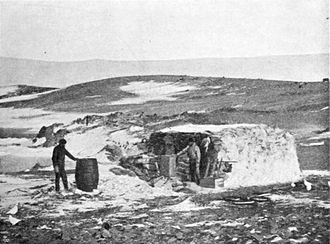 Territorial claims in Antarctica - Hut built at Hope Bay in 1903. It was there that the only instance of shots fired in anger on the Continent occurred in 1952.